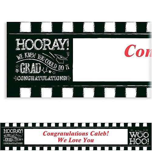 Custom Chalk Hooray Graduation Banner  Image #1