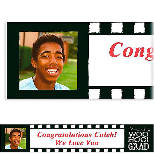 Custom Chalk Hooray Graduation Photo Banner  Image #1