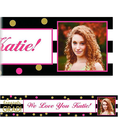 Custom Confetti Graduation Photo Banner  Image #1