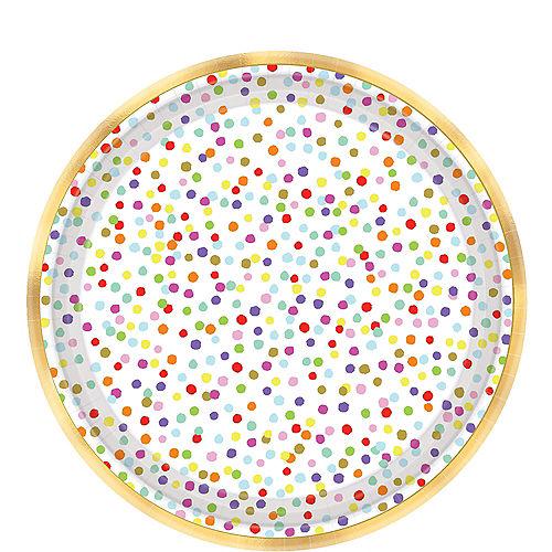 Rainbow Confetti Dessert Plates 18ct Image #1