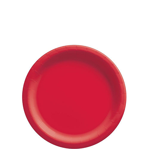 Red Paper Tableware Kit for 50 Guests Image #2