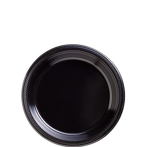 Black Plastic Tableware Kit for 50 Guests Image #2
