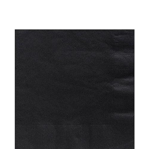 Black Plastic Tableware Kit for 50 Guests Image #4