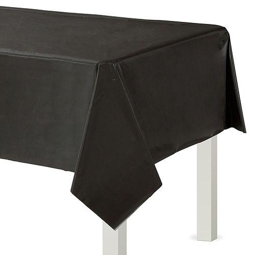 Black Plastic Tableware Kit for 50 Guests Image #6