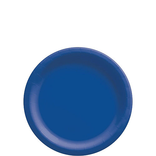 Royal Blue Paper Tableware Kit for 50 Guests Image #2