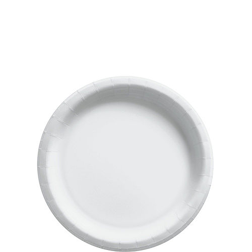 White Paper Tableware Kit for 50 Guests Image #2