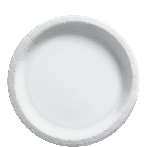 White Paper Tableware Kit for 50 Guests Image #3