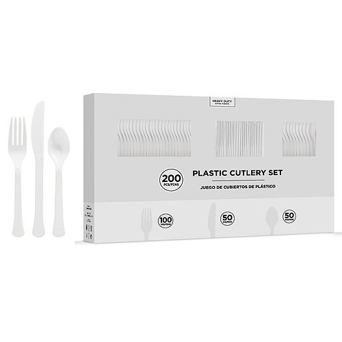 Nav Item for White Paper Tableware Kit for 50 Guests Image #7