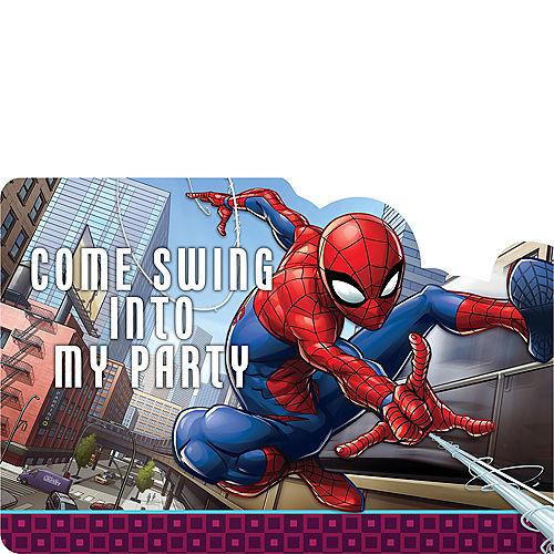 Spider-Man Webbed Wonder Invitations 8ct Image #1