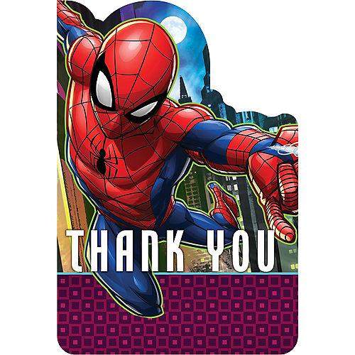 Spider-Man Webbed Wonder Thank You Notes 8ct Image #1