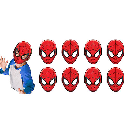 Spider-Man Masks 8ct Image #1