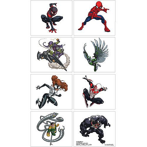 Spider-Man Webbed Wonder Tattoos 1 Sheet Image #1