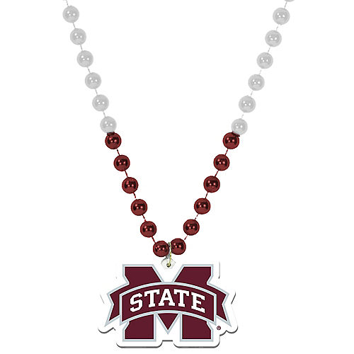 Mississippi State Bulldogs Pendant Bead Necklace Image #1