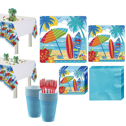 Sun & Surf Beach Basic Party Kit for 18 Guests Image #1