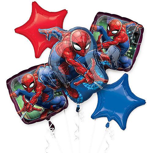 Spider-Man Webbed Wonder Balloon Bouquet 5pc Image #1