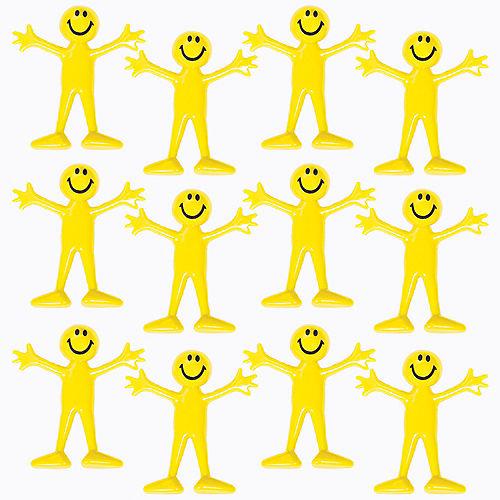Bendable Smiley Men Favor Pack 12pc Image #1