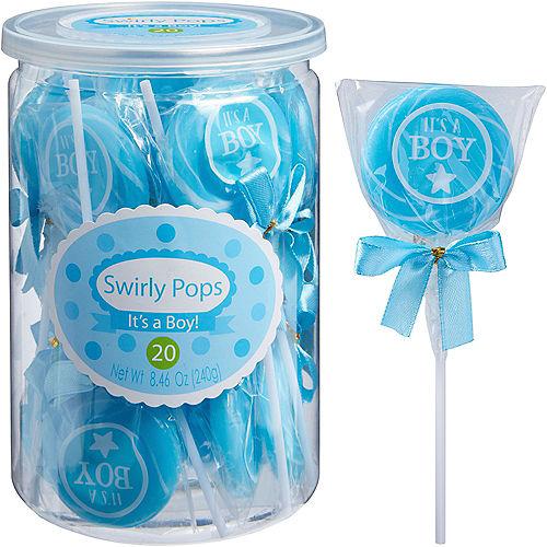 It's A Boy Swirly Pops 20ct Image #1