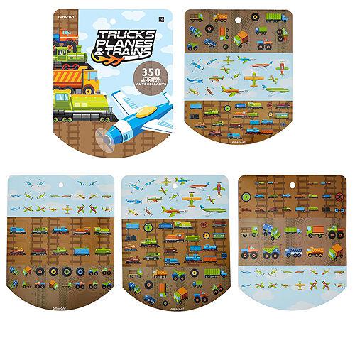 Jumbo Trucks, Planes & Trains Sticker Book 8 Sheets Image #1