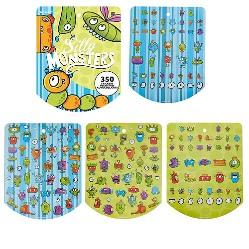 Jumbo Silly Monsters Sticker Book 8 Sheets Image #1