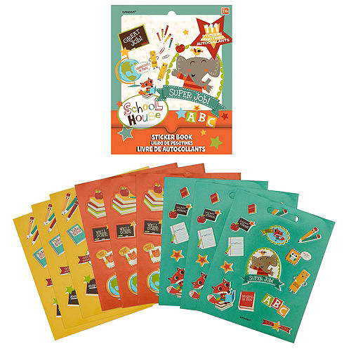 Schoolhouse Sticker Book 9 Sheets Image #1