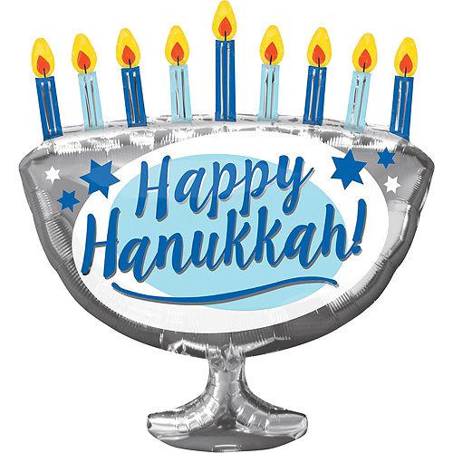 Hanukkah Menorah Balloon, 26in Image #1