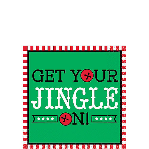 Get Your Jingle On Beverage Napkins 16ct Image #1