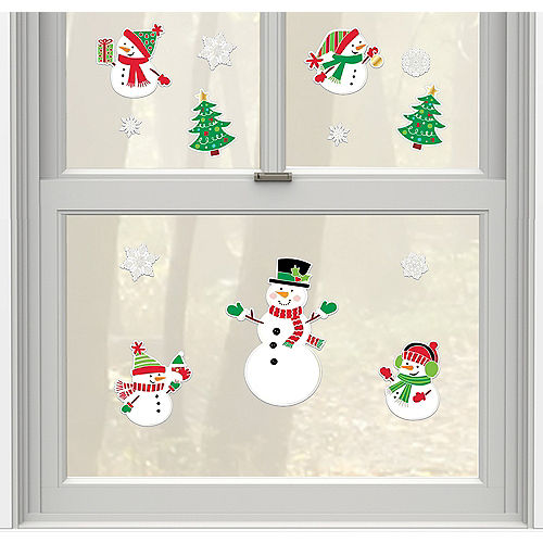 Christmas Snowman Stickers 14ct Image #1