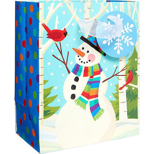 Mini Colorful Smiling Snowman Gift Bag Image #1