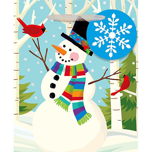 Mini Colorful Smiling Snowman Gift Bag Image #2