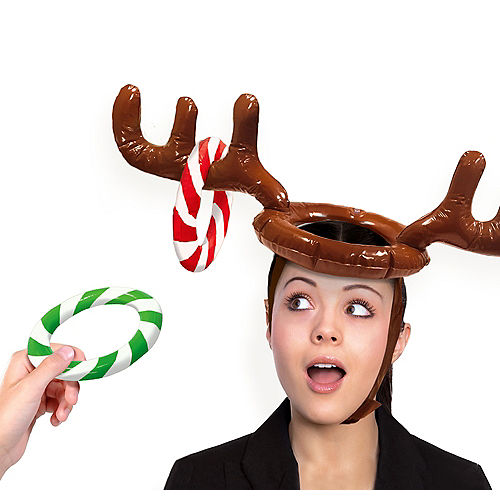Inflatable Reindeer Hat Ring Toss Game Image #1