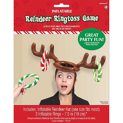 Inflatable Reindeer Hat Ring Toss Game Image #2
