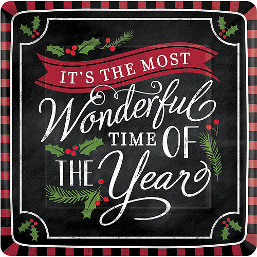 Most Wonderful Time Dinner Plates 18ct Image #1