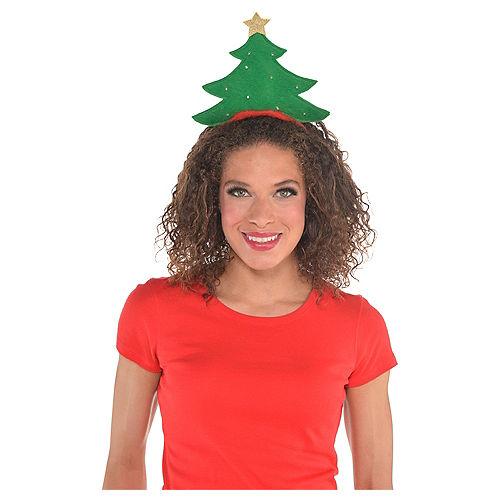Light-Up Green Christmas Tree Headband Image #2