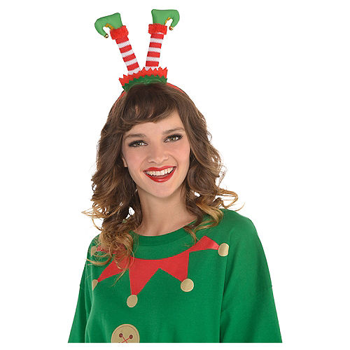 Nav Item for Jingle Bell Elf Legs Headband Image #2