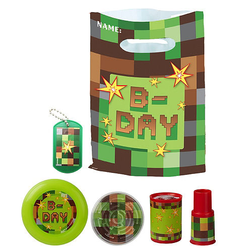 Pixelated Basic Favor Kit for 8 Guests Image #1
