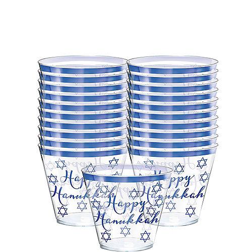 Happy Hanukkah Premium Plastic Tumblers 30ct Image #1