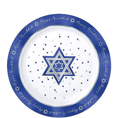 Happy Hanukkah Premium Plastic Dessert Plates 20ct Image #1