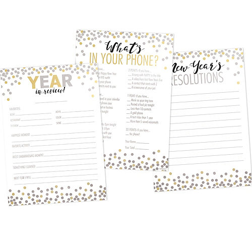 New Year's Game Kit for 20 Guests Image #1