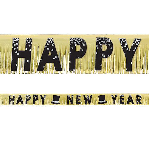 Black, Gold & Silver New Year's Fringe Banner Image #1