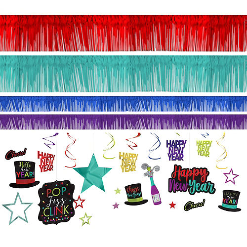 Colorful New Year's Room Decorating Kit 28pc Image #1