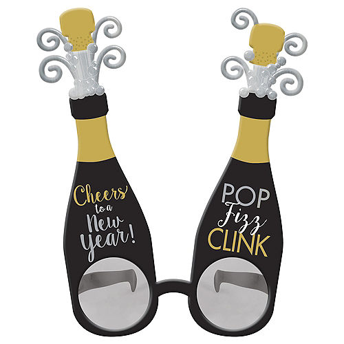 Champagne New Year's Sunglasses Image #1
