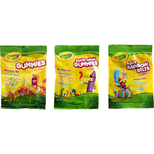 Crayola Assorted Gummies Candy Pouches 22ct Image #2
