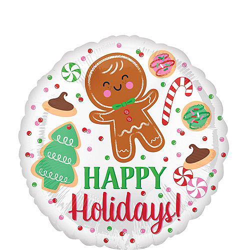 Happy Holidays Cookies Balloon, 17in Image #1