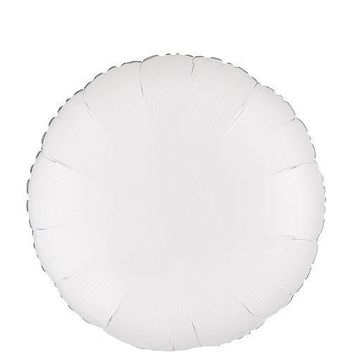 White Round Balloon, 18in Image #1