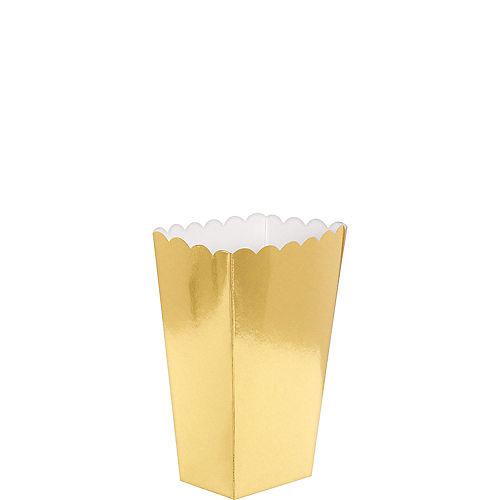 Mini Metallic Gold Popcorn Treat Boxes 5ct Image #1
