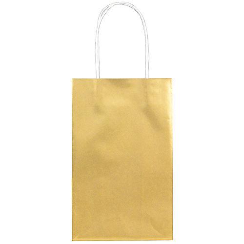 Medium Metallic Gold Kraft Gift Bags 10ct Image #1