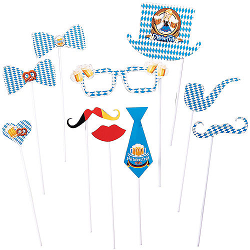 Oktoberfest Photo Booth Props 10ct Image #1