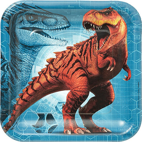 Jurassic World Lunch Plates 8ct Image #1