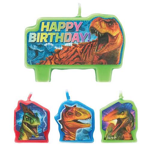 Jurassic World Birthday Candles 4ct Image #1