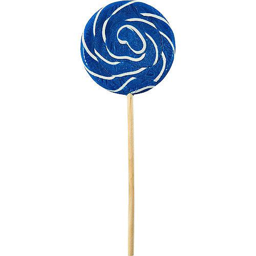 Large Royal Blue Swirly Lollipops 6ct Image #1